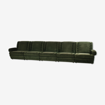 Canapé vintage modulaire des années 60, vert mousse