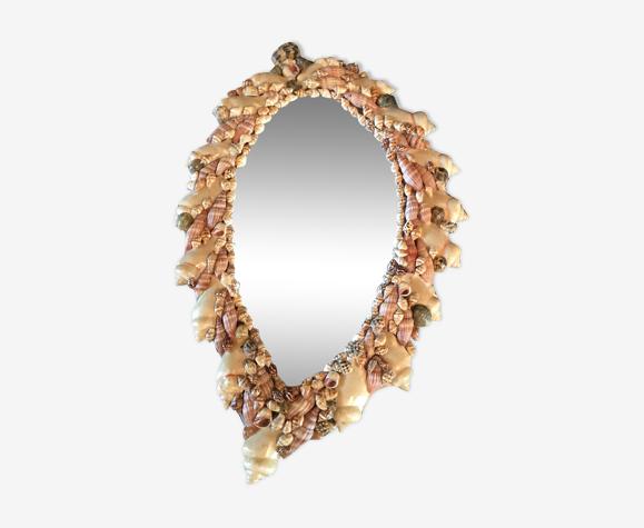 Miroir en coquillage vintage 20x31cm