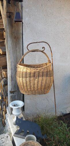 Panier vintage en osier