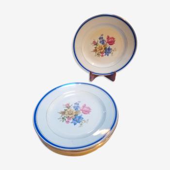 8 assiettes plates Dolly / Digoin