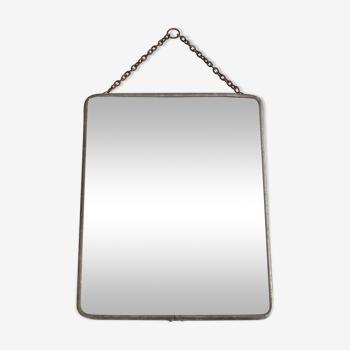 Miroir de barbier biseauté années 50 50.31 X 24, 5 cm