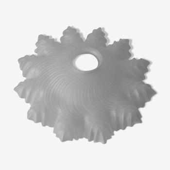 Ancien abat jour corolle plafonner Art Déco en verre transparent 26 cm