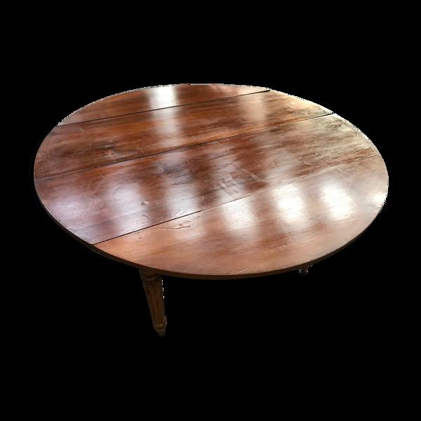 Table à manger à volets Louis Philippe avec 3 allonges