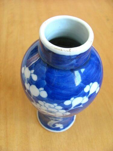 Vase céramique bleu - décor sinisant