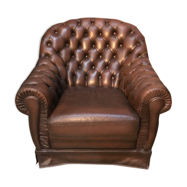 Fauteuil style chesterfield