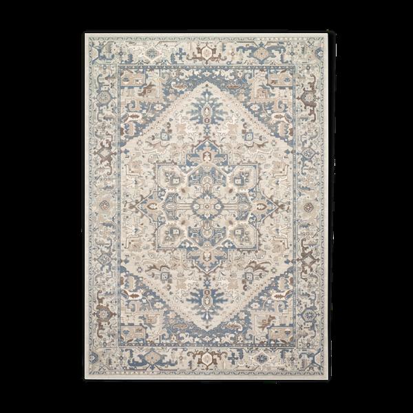 Tapis d'orient beige et bleu 160x230 cm kama