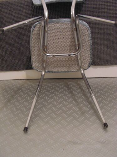 Chaise velours années 60