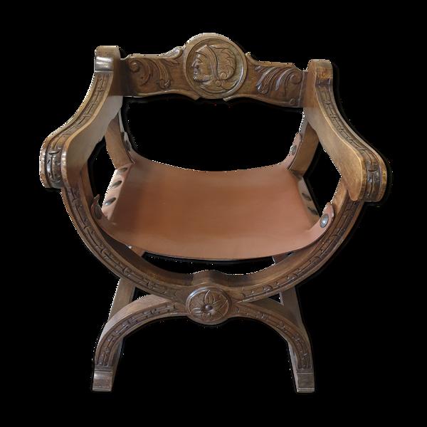 Fauteuil Dagobert assise cuir