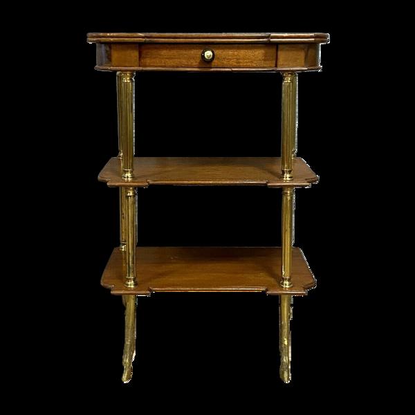 Selency Table d'apparat en acajou et bronze doré vers 1950