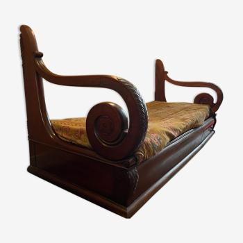 Fine 19th sofa in mahogany from Cuba