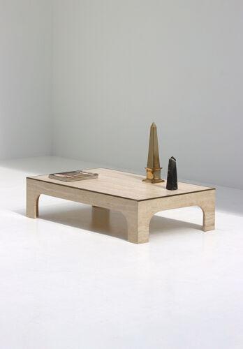 Table basse travertine 1970