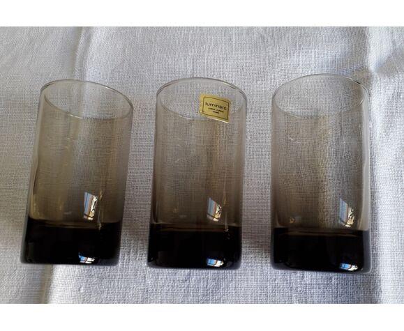 Lot de 6 verres ambrés Luminarc vintage
