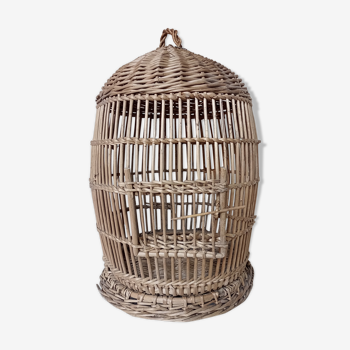 Old round wicker cage