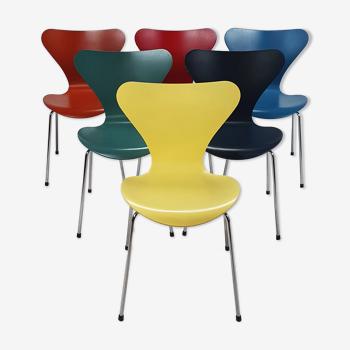 Lot de 6 chaises de salle à manger Serie 7 d'Arne Jacobsen, Fritz Hansen, 2000