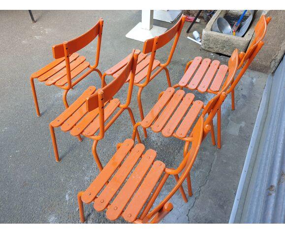 Chaises orange