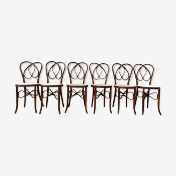 Chaises antique cannée