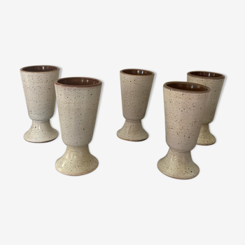 Vernified sandstone mugs
