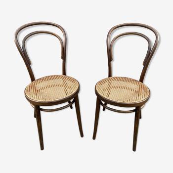 Paire de chaises bistrot Nr 14 bois courbé