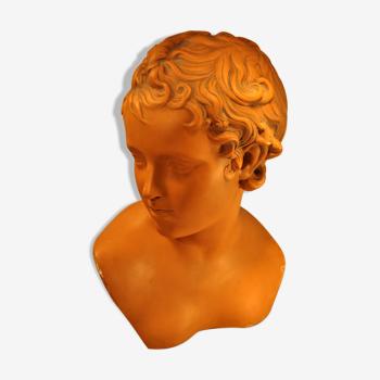 Plaster cherub bust