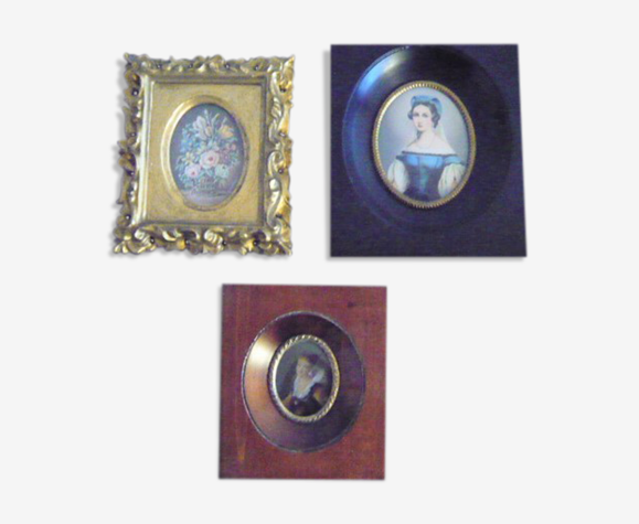 3 Miniatures XIXth