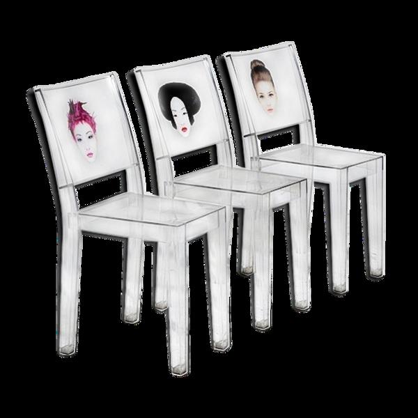Lot 3 chaises La Marie par Philippe Starck pour Kartell