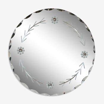 Miroir à motifs floraux - 50cm