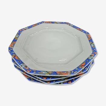 Lot de 4 assiettes en porcelaine de Limoges par Chastagner