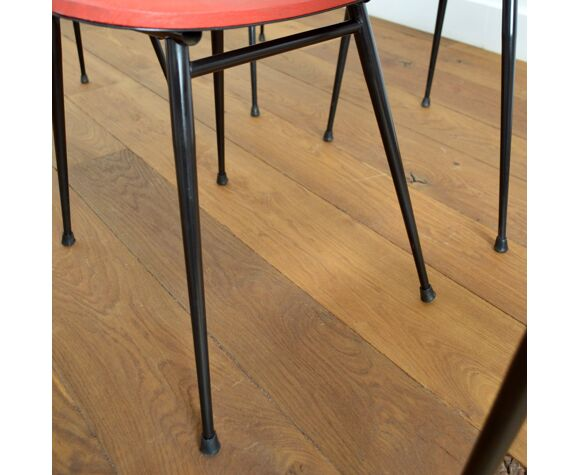 Suite de 8 chaises vintage 1950