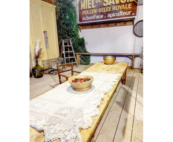 Table basse bois brut