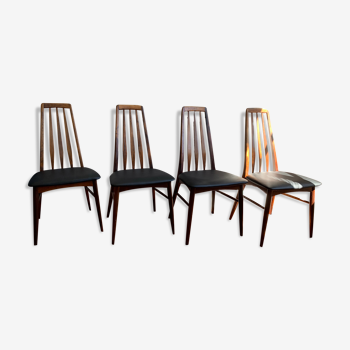 Set de 4 chaises Eva de Niels Kofoed palissandre de Rio - année 1960