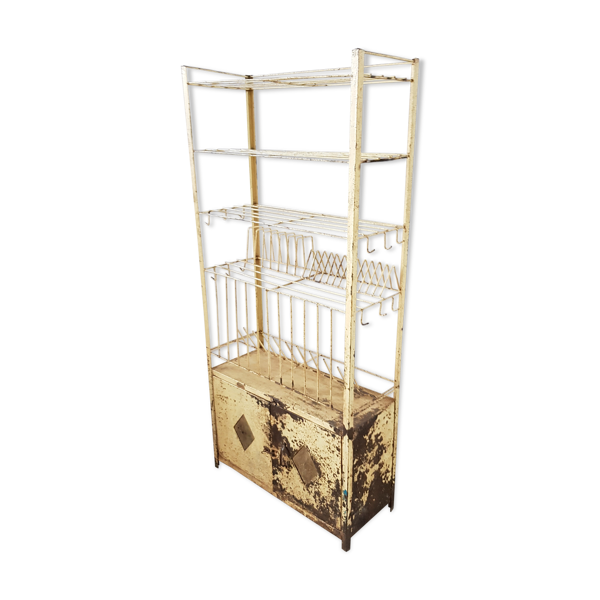 Selency Ancien vaisselier en métal