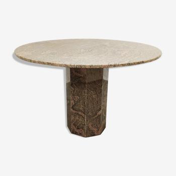 Table ronde vintage de granit années 70