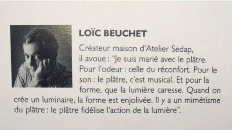 Lampadaire en plâtre modèle 1391 de Loic Beuchet edition Atelier Sedap 1984