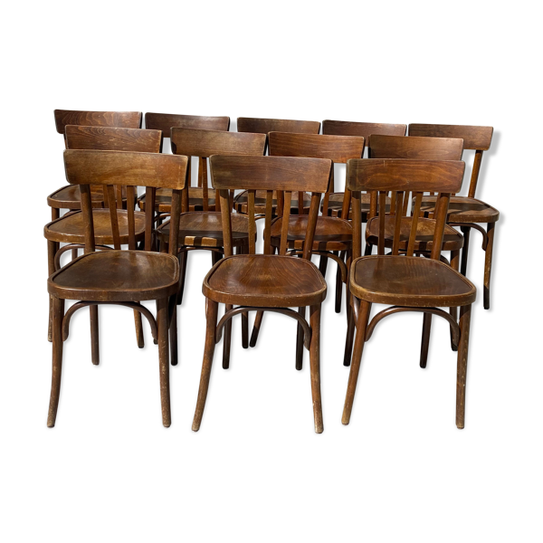 Selency Lot de 12 chaises bistrot