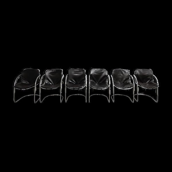 Lot de 6 chaises Gastone Rinaldi Dining, années 1970
