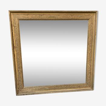 Ancient golden mirror 67x68cm