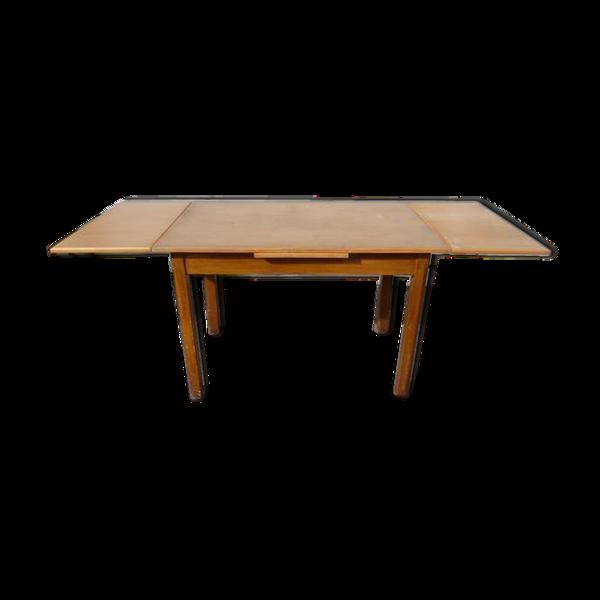 Table de bistrot en bois vintage année 1950/1960