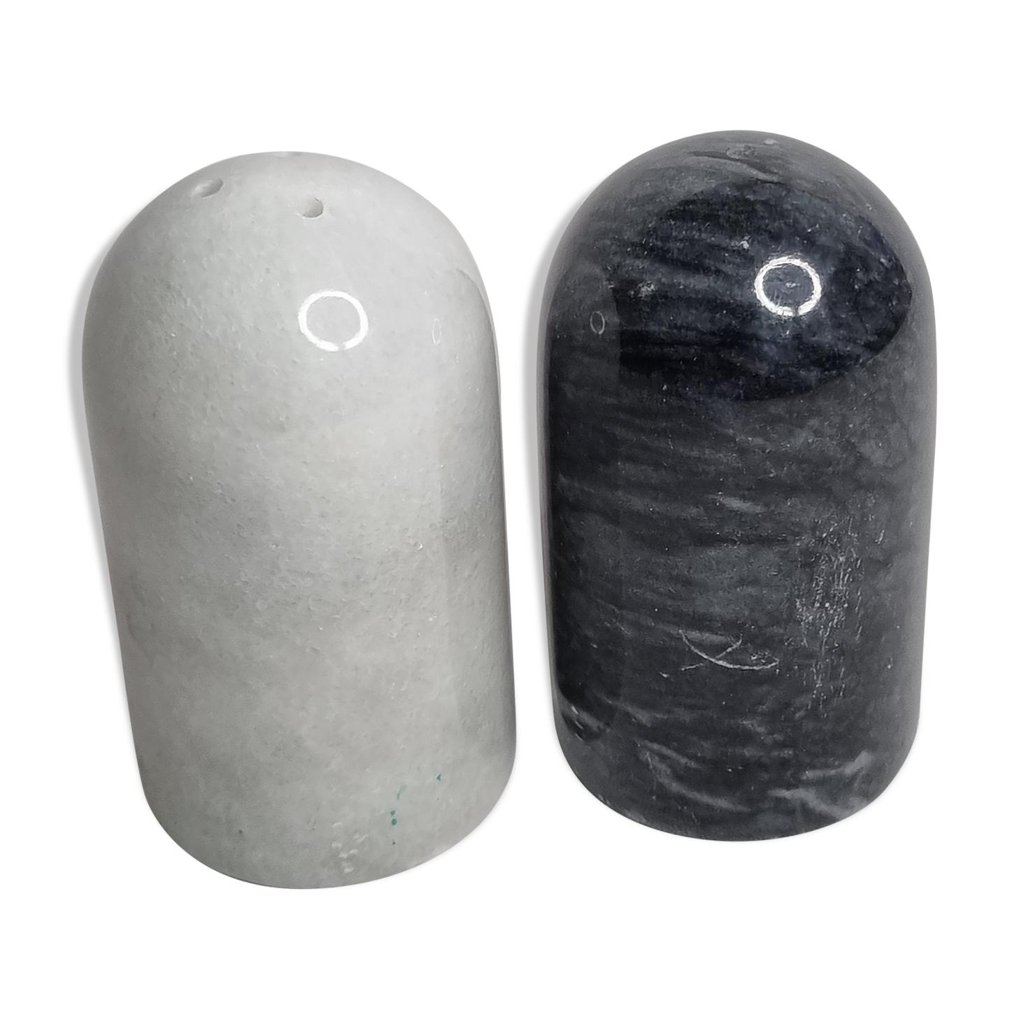 Salière et poivrière en marbre Fiammetta v
