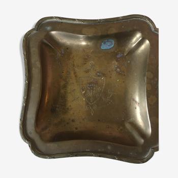 Vide poche métal argenté
