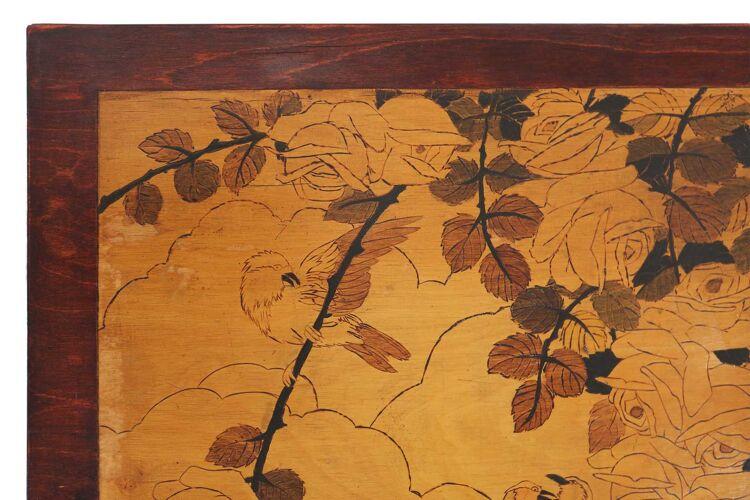 Table d'appoint Art Déco avec dessus à motifs