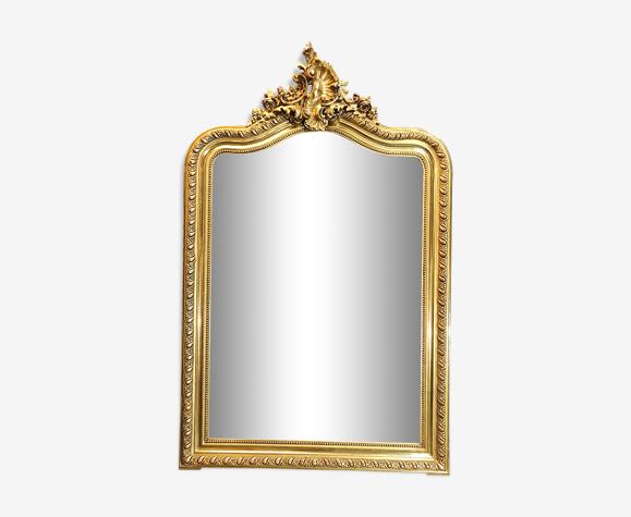 Miroir ancien dorure à la feuille d'or