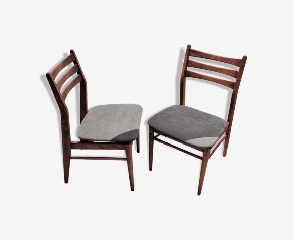 Paire de chaises scandinave en hêtre