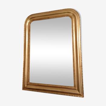 Miroir époque Louis Philippe doré 93 x 69