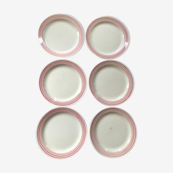 Set de 6 assiettes plates mod.Annick Montereau
