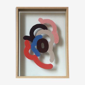"""Composition abstraite en crochet fait main """"Shape"""""""