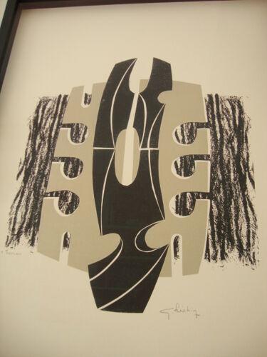 Lithographie encadrée Georges Frechin