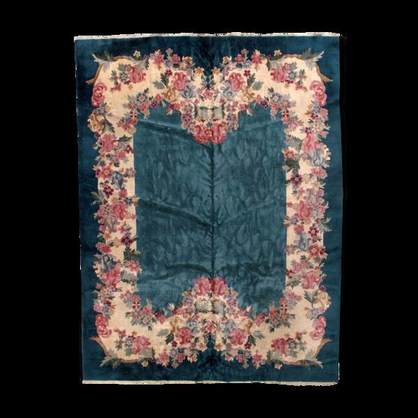 Tapis ancien chinois art deco 271 x 341cm 1920s