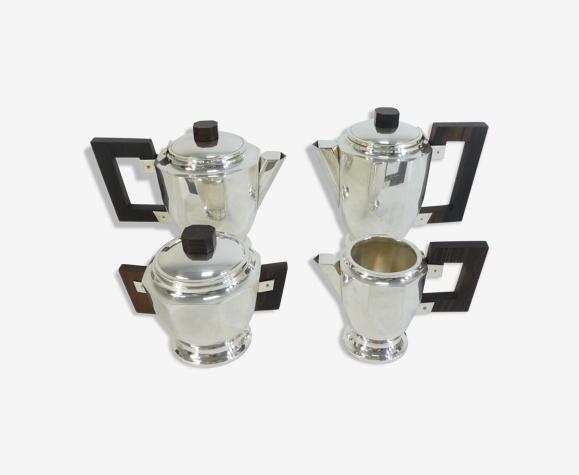 Service a café thé en métal argenté art déco 4 pieces
