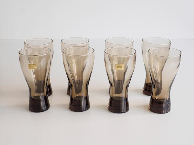 Suite de 8 verres