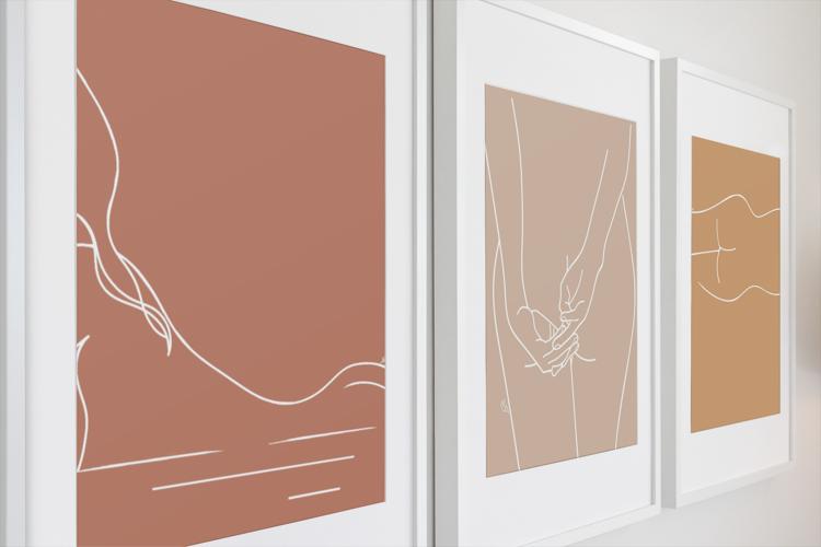 """Composition de 3 illustrations de la collection """"Women's Shade"""" par Noums Atelier"""